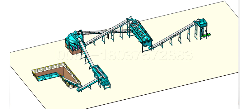Compound Fertilizer Double Roller Extrusion Granulation Production Line